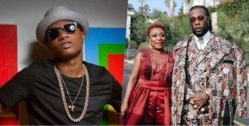 See The Gift Wizkid Gave Burna Boy's Mum, Bose (Photo)